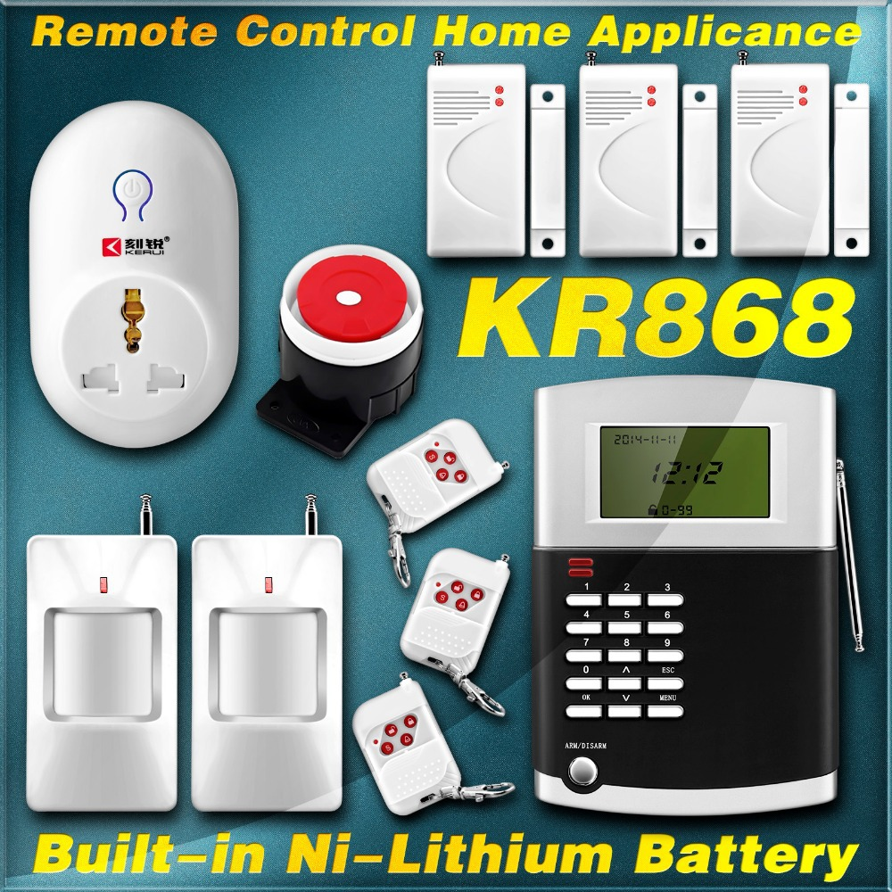 New Kit remote Control Home Appliances 99 Wireless Voice Intruder SMS PSTN Smart Switch Alarm Secur System With built-in Battery(China (Mainland))
