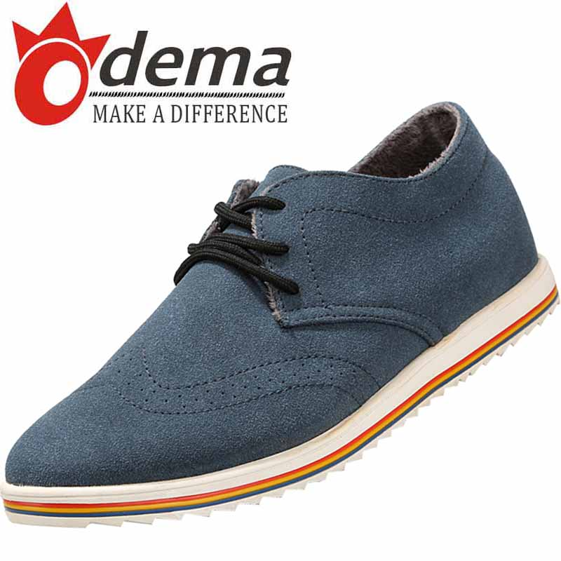 New Coimng Korea Winter Fashion Men Oxfords Soft Suede Leather Pointed Toe Shoes Warm Plush Mens Flats Shoes 39-44<br><br>Aliexpress