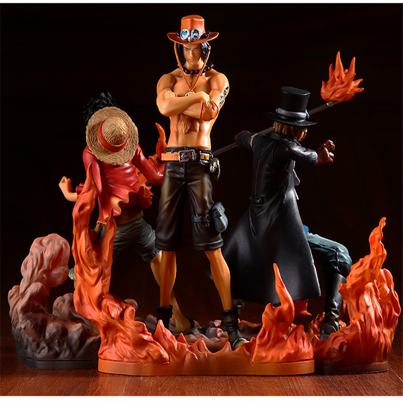 Tobyfancy One Piece Figure Japan Anime Figure Ace Luffy Sabo DXF One Piece Action Figure PVC Cartoon Figurine One Piece Toys(China (Mainland))