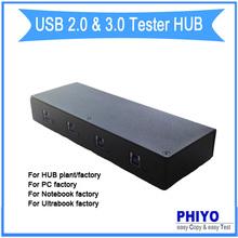 USB 2.0/USB 3.0 Host Port tester with software program for HUB plant, USB2.0/USB3.0 tester hub for hub factory, computer company(China (Mainland))
