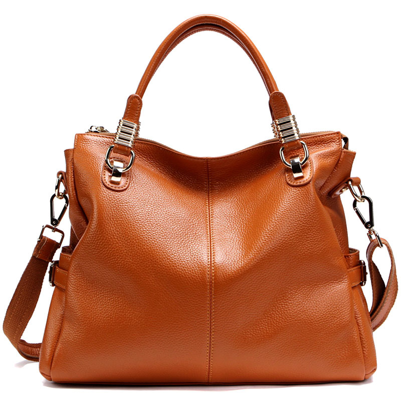BEST Genuine Leather Ever - Popular leather women handbag first layer Cowhide shoulder bags top handle bags gift for girls(China (Mainland))
