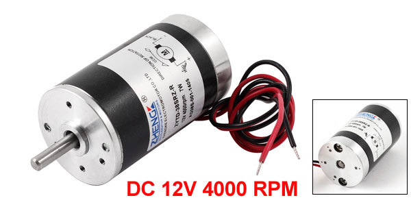 Dc 12v 4000 rpm speed 7w 5mm dia shaft wired connector for 4000 rpm dc motor