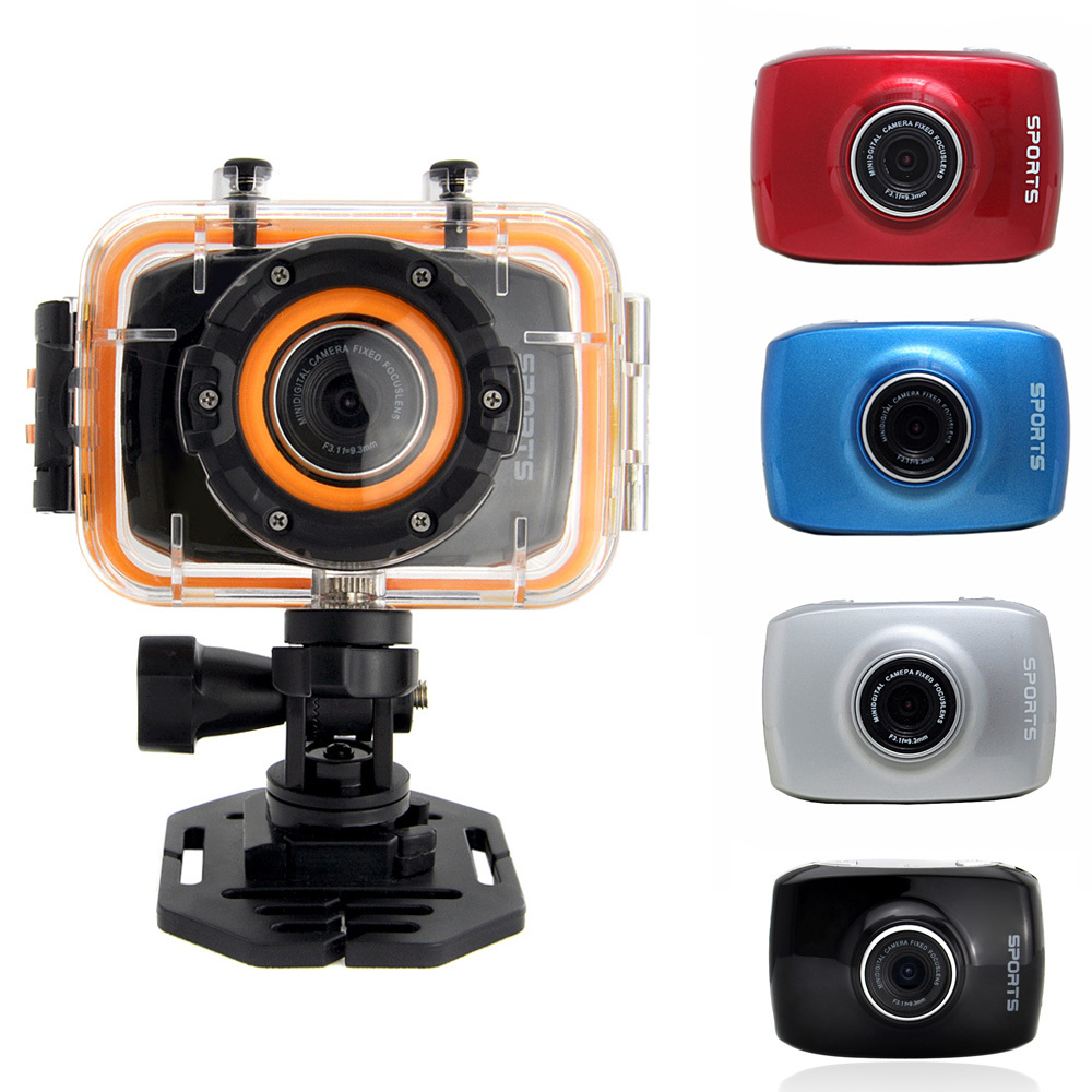 """2.0"""" LCD Touch Screen FHD 1080P Mini Sports Action Camera Digital Camcorder with Waterproof Case Slivery/Red/Blue/Black(China (Mainland))"""