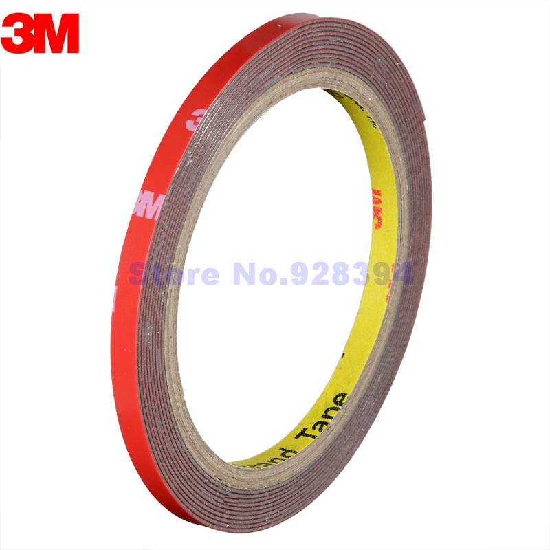 3 Pieces Lot 6mmx3m Double Sided Sticker Acrylic Foam Adhesive Tape 3m Tape Car Exterior Tape