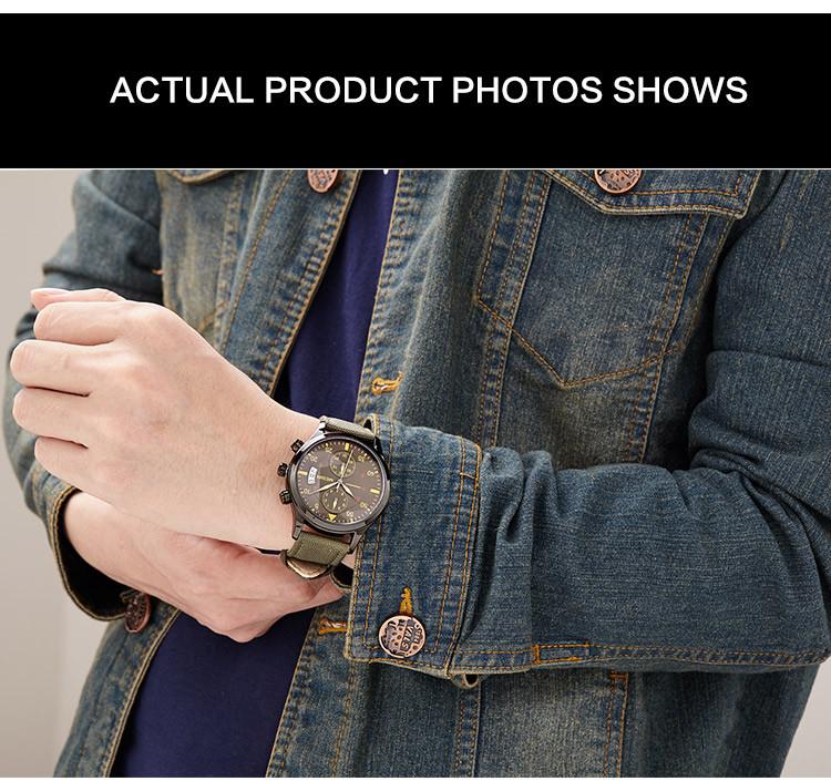Megir Часы Мужчина Часы Мужские Часы Класса Люкс Известный Стиль Кварцевые Наручные Часы для Мужчин Кварцевые часы Relogio Masculino
