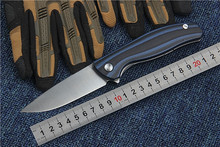 Buy tactical folding knife F3 Flipper camping hunting survival knife D2 blade G10 handle outdoor utility EDC hand tools for $20.89 in AliExpress store