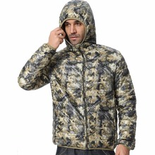 Men Hooded Camouflage Winter Down Jackets 2016 New Arrival Ultralight 90% Duck Snow Fashion Parkas Warm Jackets F1532-EU(China (Mainland))