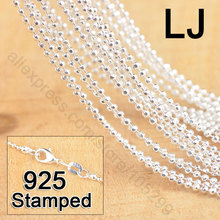 """New Free Shipping 20Pcs 18"""" 925 Sterling Silver Jewelry Section Ball Bead Prayer Chains With Lobster Clasps For Pendant(China (Mainland))"""
