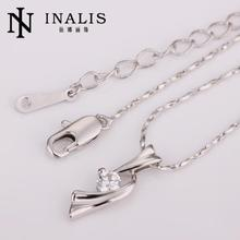 N204 Fine Jewelry Accessories Women Necklace 18K Gold Plated Austrian Crystal Pendant Necklace Jewlery Vintage Statement