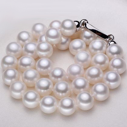 ZJPEARL free Shipping fashion necklaces for women 2014 Natural Pearl necklace 12-13mm Round  Freshwater Pearls jewelry