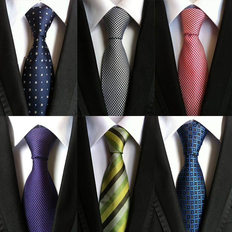 New Fashion 8cm Wide Gravata for Men's Suit Business Casual Style Striped Polyester Ties For Men Wedding or Party Neckties(China (Mainland))