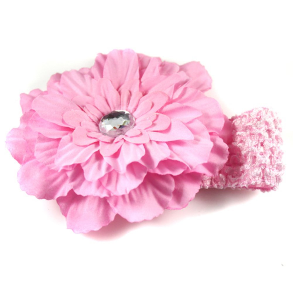 FS Hot Lot Girl Peony Headband Flowers Clip Kids Headwear(China (Mainland))