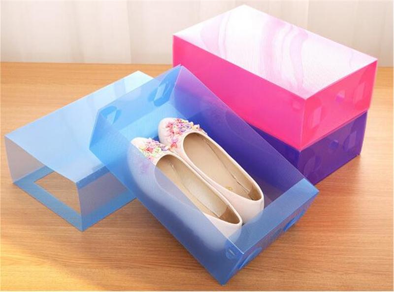 Creative Transparent Plastic Shoes Box Multifunction Drawer Shoes Storage Boxes(China (Mainland))