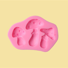 Silicone mushroom Shape Cake Mould Fondant Emboss Chocolate Icing Cupcake Decorating Tools Kitchen Accessories DIY