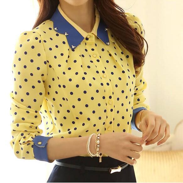 Женские блузки и Рубашки Blouse female A111 2015 Blusas Femininas Camisas Mujer
