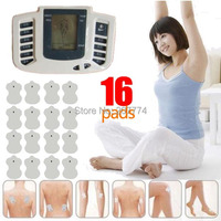 Electrical Stimulator Full Body Relax Muscle Therapy Massager Pulse tens Acupuncture Body Massager 16pads JR 309