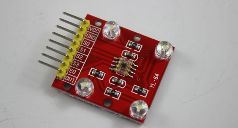 TCS3200 цвет датчик идентификации модуля tcs230 красный цвет 12000140