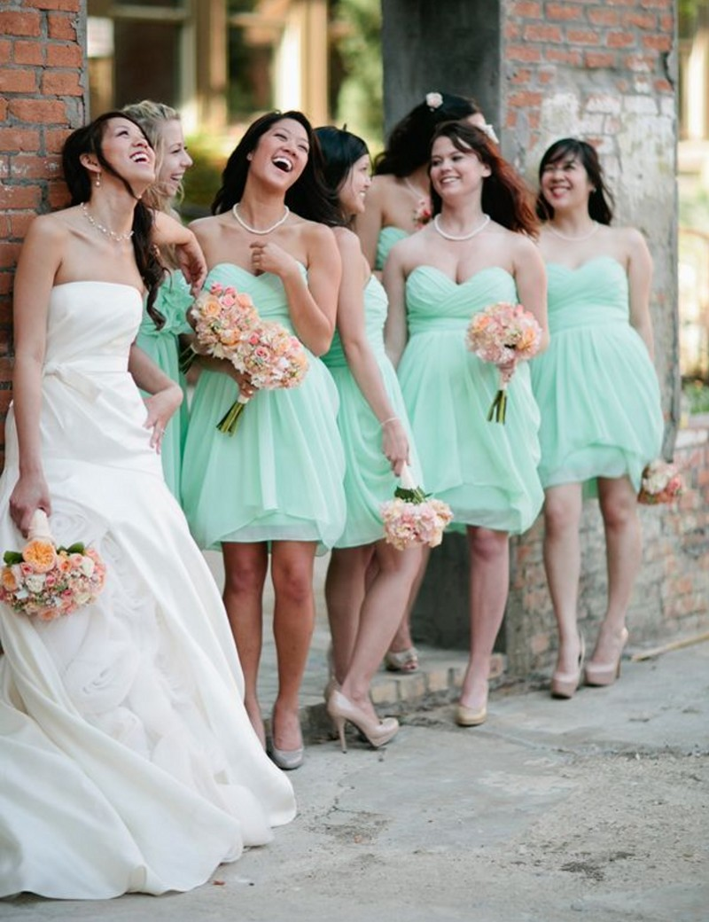 Teal Wedding Bridesmaids Dresses