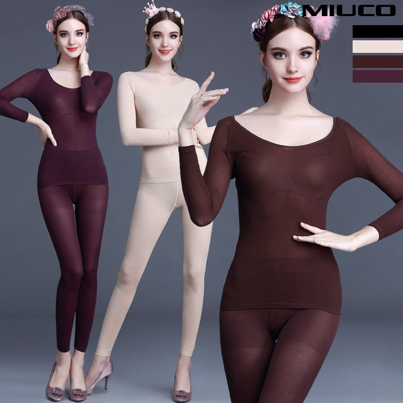 Fashion 2015 womens ultra-thin 37 thermostat thermal underwear comfortable close-fitting basic setОдежда и ак�е��уары<br><br><br>Aliexpress