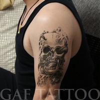 Временные татуировки обратно волк голову поддельные передачи спрей большие наклейки сексуальное тело искусства макияж высокого качества здравоохранения тату