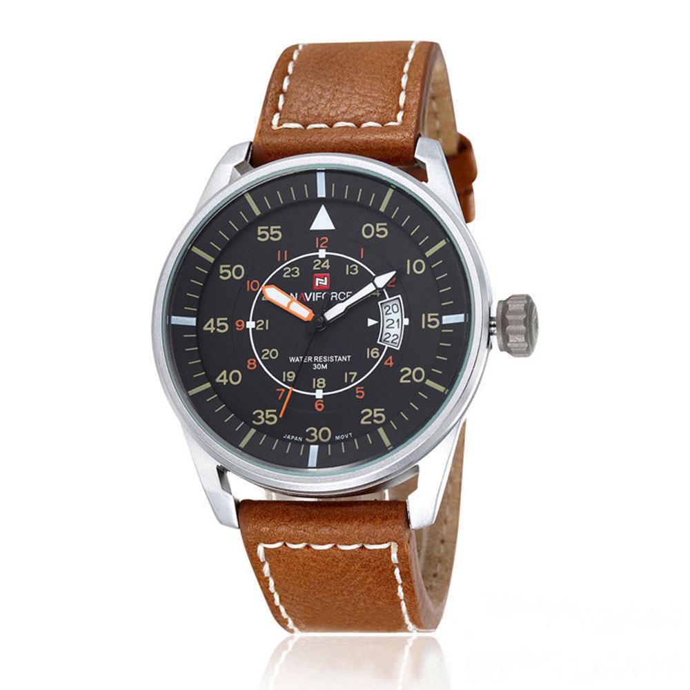 Brand NAVIFORCE Relogio Masculino Men Casual Sport Watch Clock Date Work Water Resistant Quartz Wristwatch Hours relojes hombre