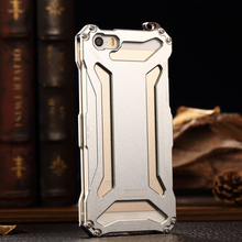 R-just Full Protection Aviation Aluminum Metal Mobile Phone Cases for iPhone 6 6S Plus Antiskid Knock-proof Polished Matte