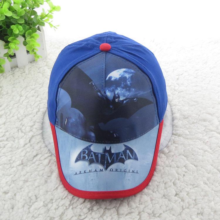 NEW HIP HOP Fashion BATMAN cartoon Caps blue & red Child Adjustable Sun Hats Baby Boys Children Sports Baseball Cap snapback hat(China (Mainland))