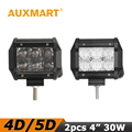 Auxmart 30W 4 LED Work Light 4D 5D CREE chips Spot Flood Beam Offroad Led Light