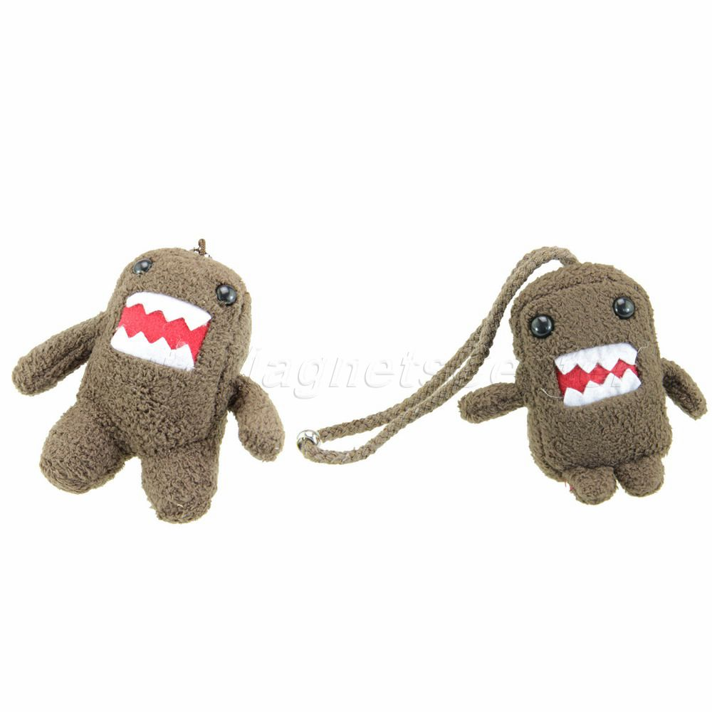 Cute Domo Kun Stuffed Plush Doll Toy Keychain Cell Phone Strap Charm Lanyard Bag Chain for Children(China (Mainland))