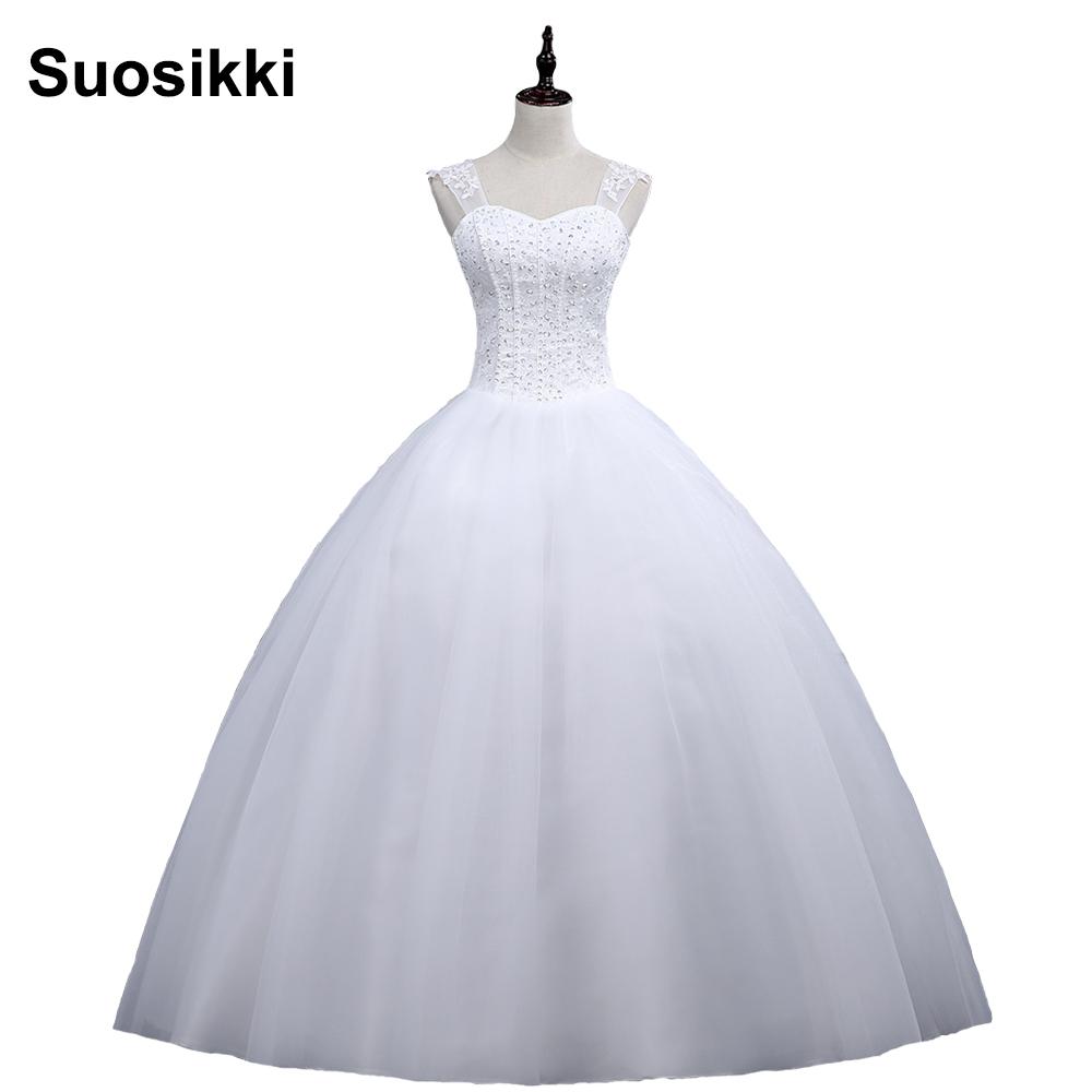 Suosikki Vestido De Noiva Renda Vintage Lace Princess Wedding 2017 Ball Gown White Wedding Dress Robe De Mariage 2016 Casamento
