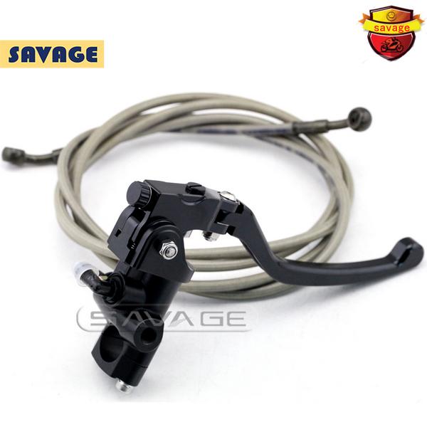 Motorcycle Left Side Radial Master Cylinder Stunt Bike Brake system Brake Lever & Hydraulic Steel Braided Brake Oil Hose(China (Mainland))