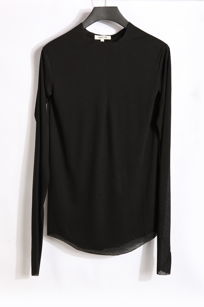 Doma damir black thin material close fitting long sleeve for Thin long sleeve t shirts