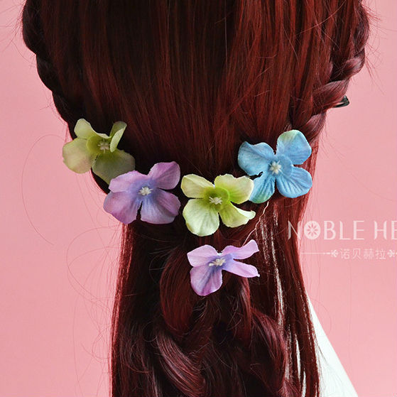 Wholesale 30pcs/lot ladies accessories wedding hairpins fabric flower hair bride for women 2015(China (Mainland))