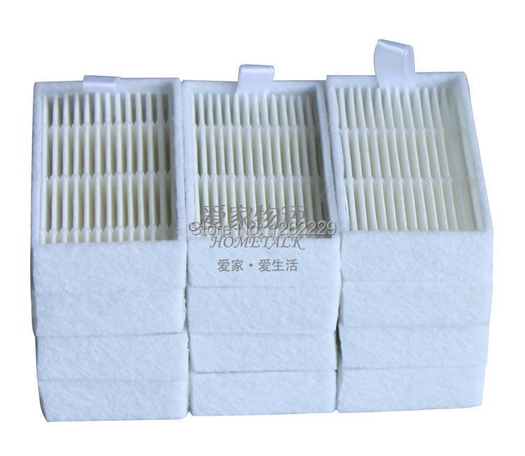 Потребительские товары OEM 12Pcs/Lot HEPA Ecovacs Dibea X 500 X 580 X 600 8 CR120 CR130 CEN540 . ., For Ecovacs Dibea X500 4pcs lot for dibea c17 vacuum cleaner spare parts kits hepa filter