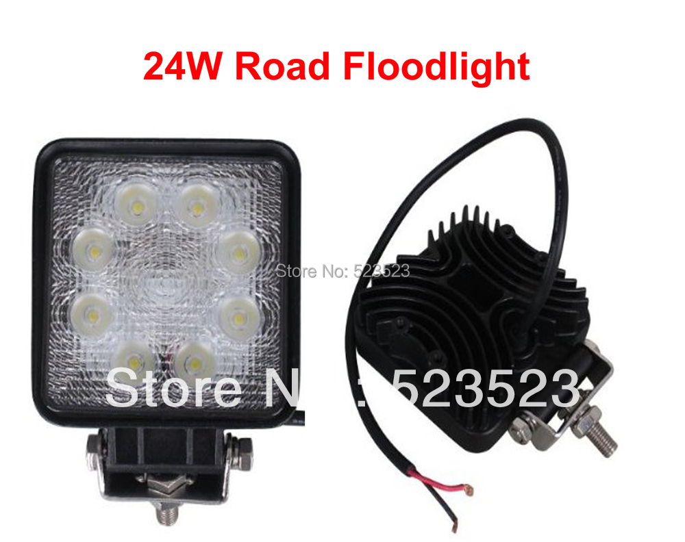 Free Ship 24W 10-30 V 2160LM LED Work LAMP Off Road Floodlight 2pcs- - Cabin/Boat/SUV/Truck/Car/ATVs Fishing Deck Square(China (Mainland))