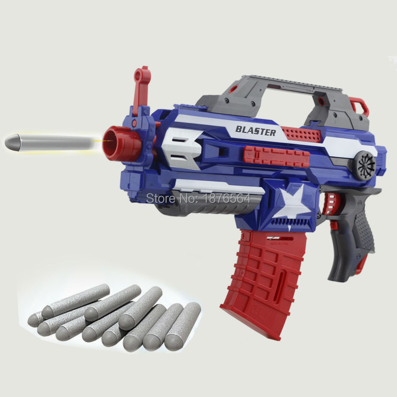Electric Toy Gun Toy Guns 20 pcs Soft Bullet Big Gun Launchers CS Outdoor Toys Kids Foam EVA Electric Gun Soft Bullets Toy(China (Mainland))