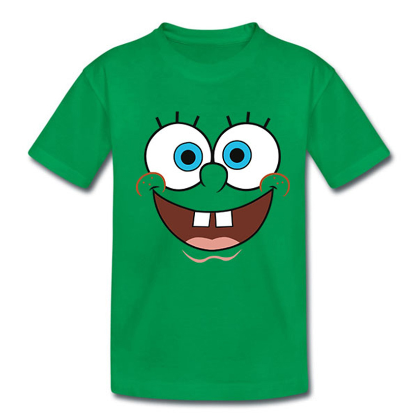 New 2015 Children Clothing Boys And Girls T Shirt Baby Kids SpongeBob T Shirts Cartoon Spongebob squarepants Cotton T-shirt(China (Mainland))