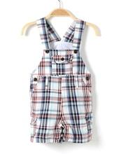 newborn baby boy summer clothing  toddler overalls clothes children onesie plaid romper cotton baby jumpsuits kids 1 2 years