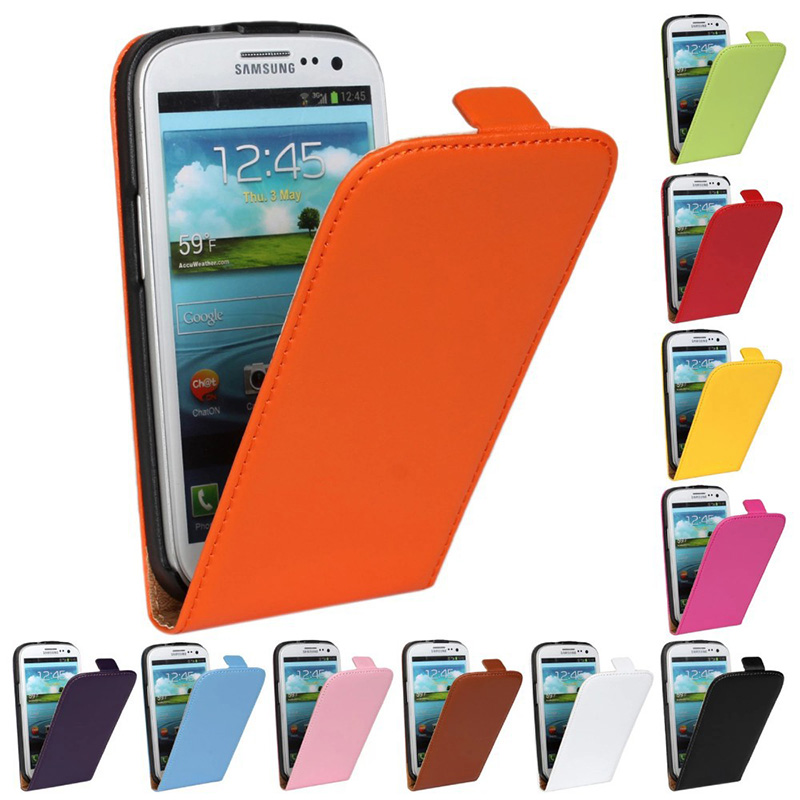 S3 New Retro Luxury Vintage Real Genuine Leather Wallet Flip Phone Case Covers For Samsung I9300 Galaxy SIII S3
