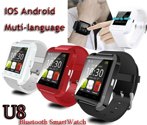 2015 New U8 multi-language bluetooth smart watch Smartwatch WristWatch Wrist Wrap Handsfree iphone 6 5S Samsung Android