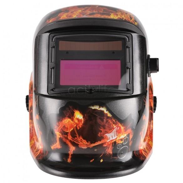 New Arrival Black Solar Auto Darkening Welding Helmet ARC TIG MIG Grinding Protective Mask For Welders 51(China (Mainland))