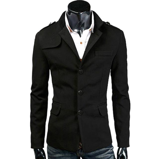 Горячая мода Высокое качество шерстяной мужская свободного покроя пиджаки slim-подходят ...