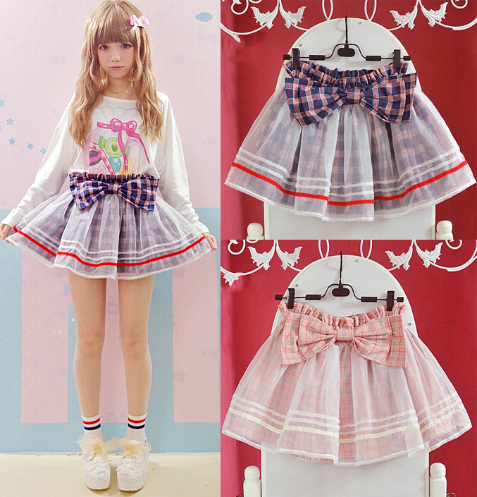 Perfect Cute Girl Floral Flocking Princess Short Skirt