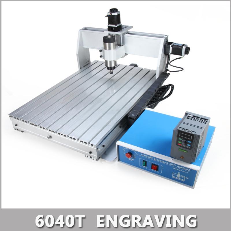 800W MACH3 Control Diy 6040T Mini CNC Machine, Working Area 575 x 375 x 68mm, 3 Axis Pcb Milling Machine, Wood Router.(China (Mainland))