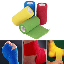 New Arrival  Self-Adhering Bandage Wraps Elastic First Aid Tape Stretch 4.5m x 10cm frees hipping(China (Mainland))