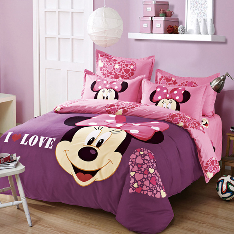 Minnie Mouse Twin Bedding Twin Size Bed Set Minnie Mouse Bedding Set  Bedclothes Duvet Cover Bed   Decorate My House. Minnie Mouse Twin Bedding Twin Size Bed Set Minnie Mouse Bedding