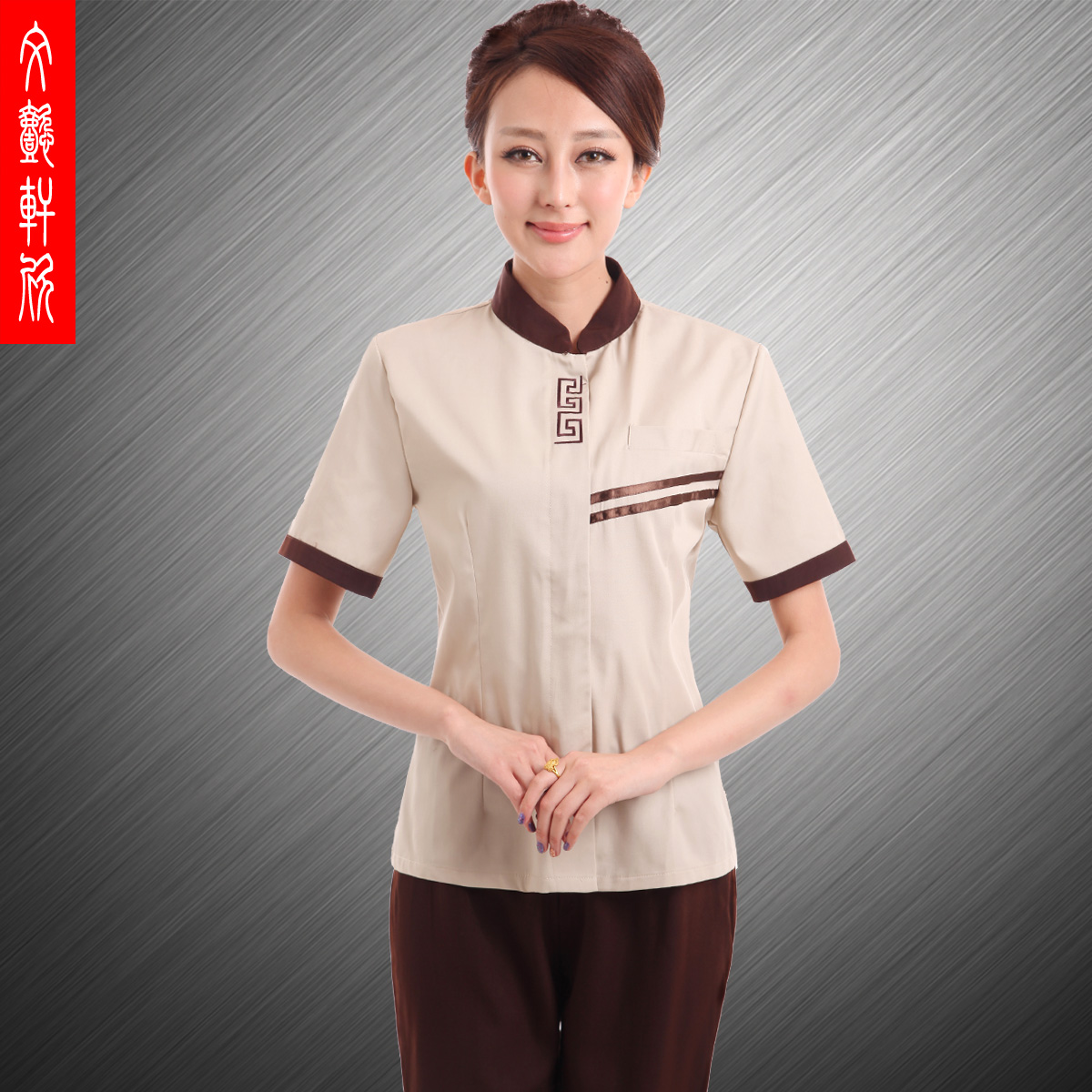 10sets [Top-pant] female cleaning service clothes pa uniforms Property Cleaner work clothes The gardener overalls full set(China (Mainland))