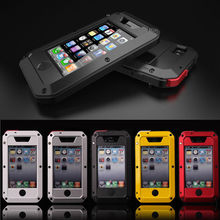 Waterproof Shockproof Aluminum Gorilla Glass Metal Case Cover For Apple iPhone 5/5S(China (Mainland))