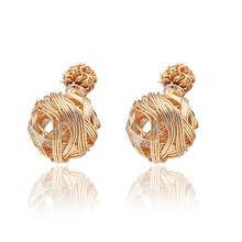 Super Deals Charm Vintage Classical Double Ball Earrings Party Brincos Earrings Statement Accessories Jewelry For Women 2014 M11