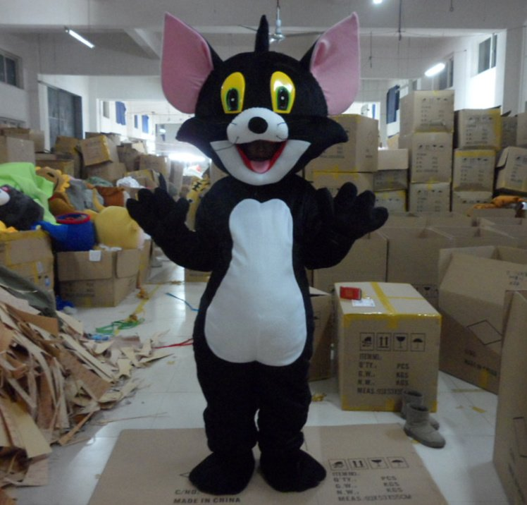 Wholesale FREE SHIPPING black cats Plush Cartoon Character Costume mascot cosplay Custom Products customized<br><br>Aliexpress